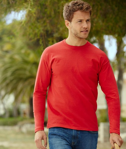 Longsleeve mit Textildruck - VALUEWEIGHT LONG SLEEVE T - 61-038-0 - Fruit of the Loom