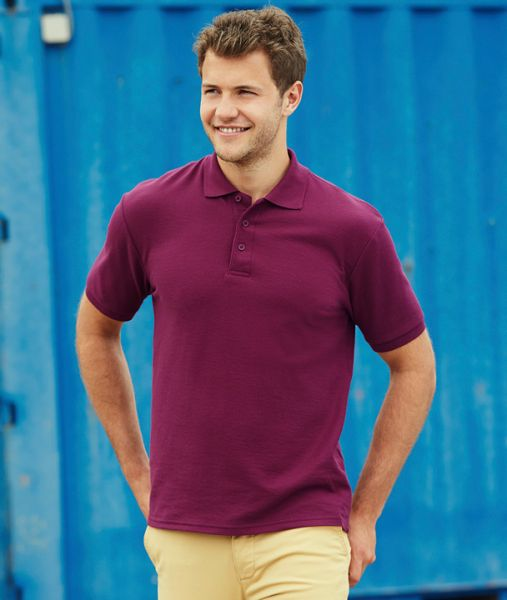 Polo-Shirt mit Textildruck - 65/35 HEAVY POLO - 63-204-0 - Fruit of the Loom