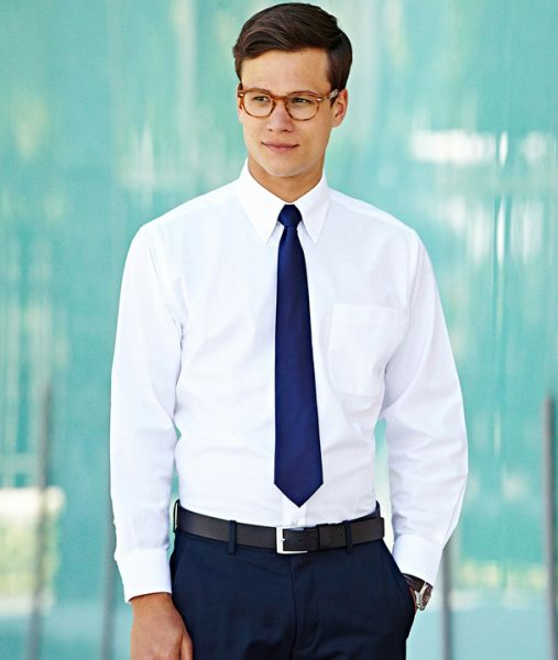 Businesshemd mit Textildruck - LONG SLEEVE OXFORD SHIRT - 65-114-0 - Fruit of the Loom