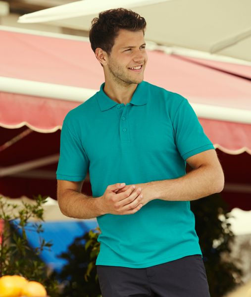 Polo-Shirt mit Textildruck - 65/35 PIQUE POLO - 63-402-0 - Fruit of the Loom