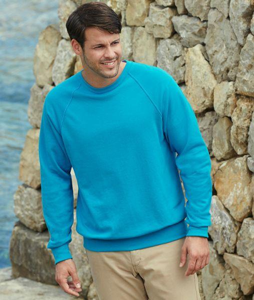 Sweatshirt mit Textildruck - LIGHTWEIGHT RAGLAN SWEAT - 62-138-0 - Fruit of the Loom