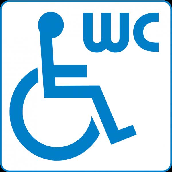 WC Schild - Behinderten WC, Türschild, Toilette, Behindertentoilette