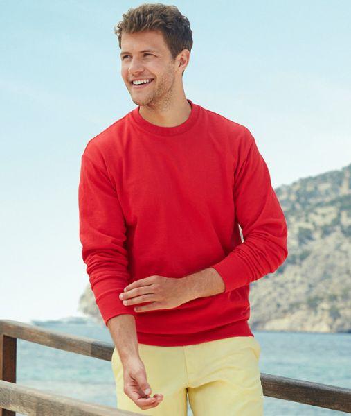 Sweatshirt mit Textildruck - LIGHTWEIGHT SET-IN SWEAT - 62-156-0 - Fruit of the Loom