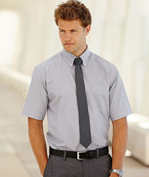 Businesshemd mit Textildruck - SHORT SLEEVE OXFORD SHIRT - 65-112-0 - Fruit of the Loom