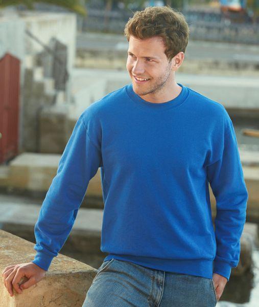 Sweatshirt mit Textildruck - PREMIUM SET-IN-SWEAT - 62-154-0 - Fruit of the Loom