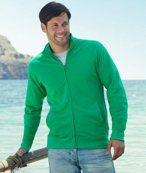 Sweatshirt mit Textildruck - LIGHTWEIGHT SWEAT JACKET - 62-160-0 - Fruit of the Loom