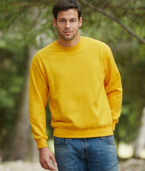 Sweatshirt mit Textildruck - CLASSIC SET-IN SWEAT - 62-202-0 - Fruit of the Loom