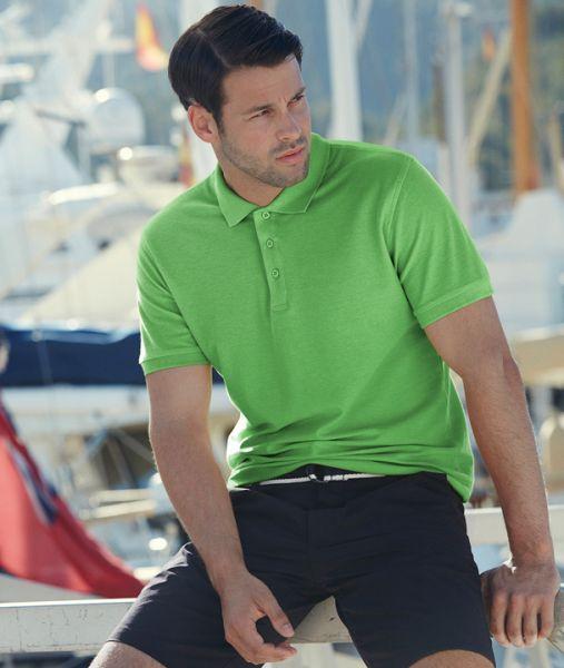 Polo-Shirt mit Textildruck - PREMIUM POLO - 63-218-0 - Fruit of the Loom