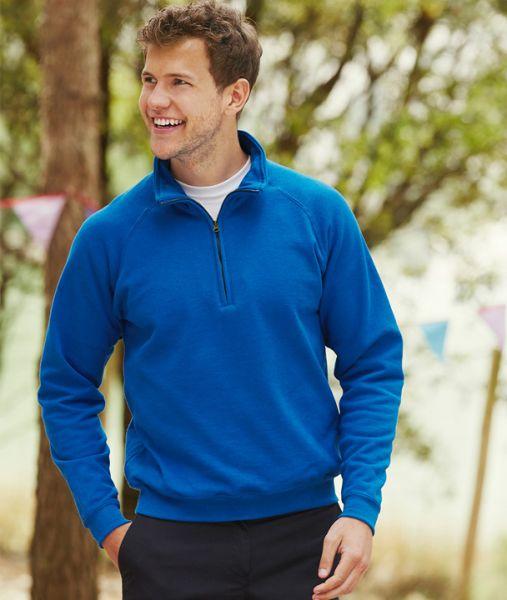Sweatshirt mit Textildruck - CLASSIC ZIP NECK SWEAT - 62-114-0 - Fruit of the Loom