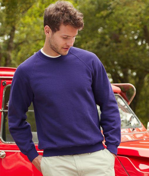 Sweatshirt mit Textildruck - CLASSIC RAGLAN SWEAT - 62-216-0 - Fruit of the Loom