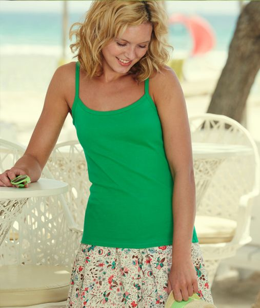 Shirt mit Textildruck - LADY-FIT STRAP T 61-024-0 - Fruit of the Loom