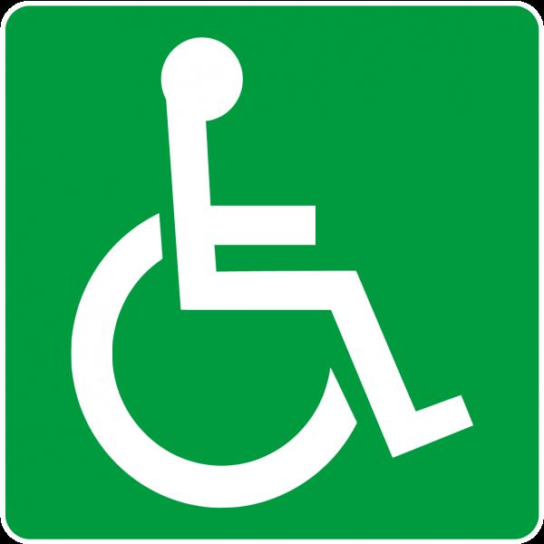 Hinweisschild - Behinderten WC, Türschild, Toilette, Behindertentoilette
